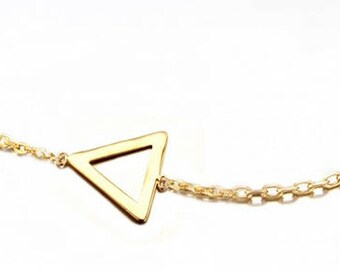 Gold plated triangle bracelet
