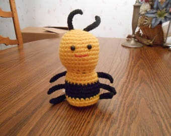 New HANDMADE Crocheted Yellow and Black Bee