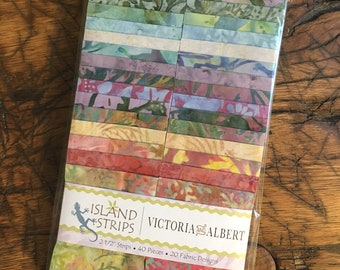 Island Batik Victoria and Albert, Precut Fabric Strips, Jelly Roll, Rollup, Quilting