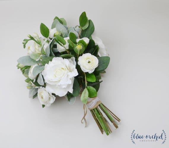 White Flower Wedding Bouquets: Wedding Flowers Wedding Bouquet White Bouquet Eucalyptus