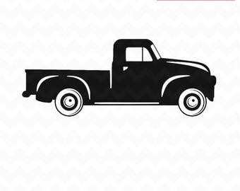 Truck SVG Pickup Svg Vintage Pick Up And PNG Instant Download