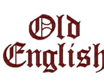 Buy 2, Get 1 Free, Old English Embroidery Font, Instant Download, PES format
