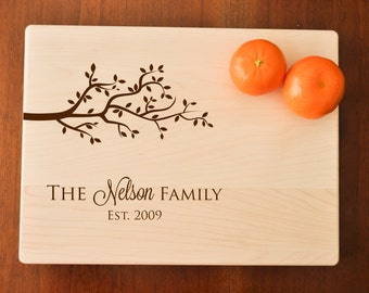 Personalized Cutting Board - Engraved Cutting Board, Custom Personalized Wedding Gift, Housewarming Gift, Anniversary, Couple Cutting Board