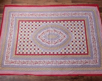Vintage Hippie Tapestry   70s Wall Hanging Boho Indian Batik Festival Decor - 4'x5'
