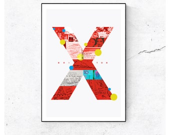 Brixton x Bowie Illustrated Art Print for charity. Matte and Giclee Art Prints in A3 A2 sizes. Wall Art, home decor. Prints of London