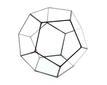 Simple terrarium. Glass terrarium for gift. Geometrical ball for succulents. Decorative box for jewelry.