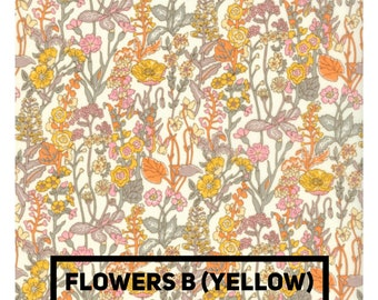 LIBERTY ROSA BLOOMERS - Diaper cover / Nappy cover Constructed from Liberty Art Cotton Tana Lawn Flowers yellow
