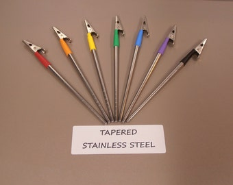 Bracelet Helper - Light Weight, 5.5 inches Long. - TAPERED STAINLESS STEEL - 7 Color Choices!