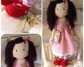 Beautiful Handmade vintage style Heirloom Rag Doll Ooak