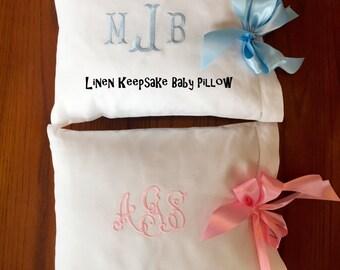 Keepsake Linen Baby Pillow