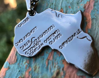 Map of Africa Necklace