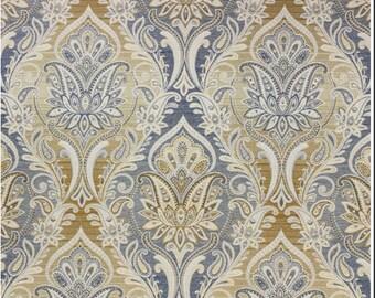 Custom made curtain panels, drapes, Richloom Candelabra Jacquard cobalt