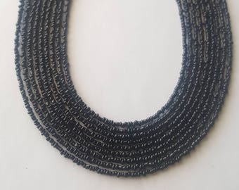 Delicate black seed bead necklace - black seed bead necklace - black bead necklace - black necklace - small seed bead necklace