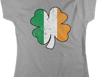 Four Leaf Irish Shamrock, St. Patrick's Day, Irish Pride, Women's T-shirt, NOFO_00096