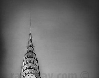 Chrysler Building, New York City Print, Architecture, Silver, Black and White New York Photography
