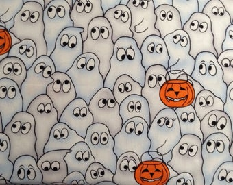 Ghosts/Jack-O-Lanterns/Halloween cotton fabric by the yard