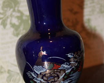 Small Blue Cobalt Japanese Vase 4 ""