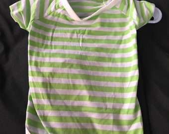 Pet - Summer Green Striped Shirt