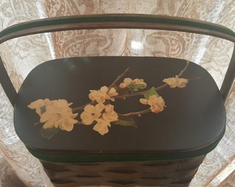 Vintage, Retro, Rockabilly Woven Wood Basket Purse