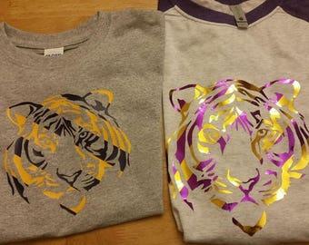 LSU tiger stripe Tshirt