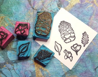 HANDCARVED STAMPS - Into the Woods Set