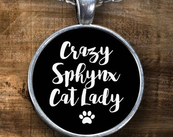 Sphynx Cat Gift - Sphynx Cat - Sphynx Cat Lover - Gifts for Sphynx Cat Lovers - Crazy Cat Lady - Sphynx Cat Necklace