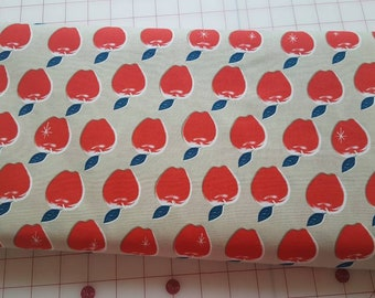 9-10 Yard Bolt of Apples in Red by Melody Miller for Cotton and Steel
