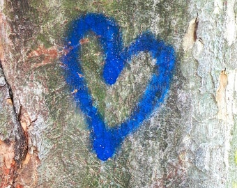 Graffiti Heart Art, Blue Heart Print, Boho Art, Urban Art, Rustic Home Decor,Graffiti Art,Blue Heart Nursery Decor,Blue Valentines Day Decor