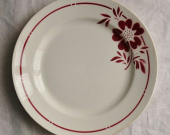 2 dinner plates antique French faience