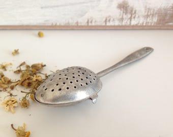 Vintage Tea Strainer - Spoon tea strainer - Vintage Tea Strainer Spoon -  Antique Tea Strainer -  Strainer Spoon