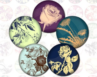 Digital collage sheet flowers digital collage circle 1x1 digital collage sheet round digital collage sheet 1 inch bottle cap images