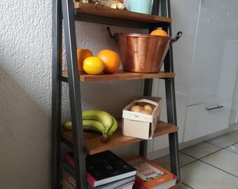Modern shelves industrial metal steel vegetable kitchen