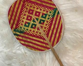 Colourful Straw Fan