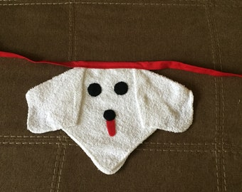 3  Terry Cloth Dog Baby Bibs