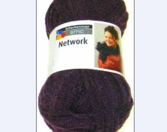 WOOL RUSTLE SMC NETWORK 100GR EGGPLANT NEW 032