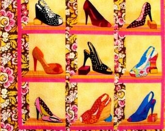 BJ Designs & Patterns High Steppin High Heels Applique Quilt Pattern