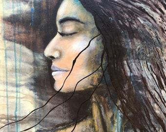 Integrating Hope Original Painting by artist Rafi Perez Mixed Medium on Canvas 24X18