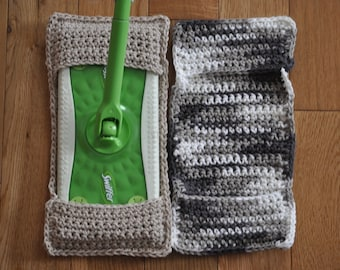 Reduce Reuse Recycle - Zero Waste Home - Swiffer Cover - Crochet Swiffer - Reusable Swiffer - Swiffer Pad - Eco Friendly - Crocheted Items