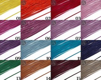1m or 5m art-suede band 2, 7 mm or 3 mm wide in many different colors / / suede imitation / faux leather / band / art leather