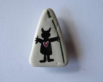 Handpainted little guy lyric sea pottery magnet BUY 2 GET 1 FREE twilightdance ooak original art