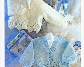 knitting pattern for  Baby Cardigan,   16 to 26 in chest(Double Knitting) download pattern