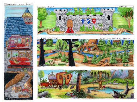 Set of 4 King's Quest Prints