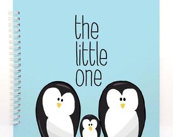Penguins book - Baby Book, Baby Memory Book, Baby Shower Gift, Baby Journal, Baby Album, Keepsake