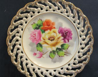 Roses Hanging Wall Plate