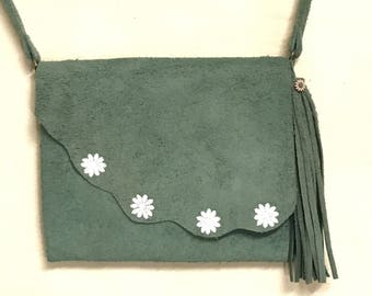 Daisy Love Suede Leather Bag