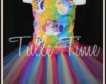 My Little Pony birthday party pageant corset  tutu dress any size 12m 18m 2t 3t 4t 5t 6