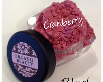 CRANBERRY Blush Organic Minerals Soft Berry Rose Shade Vegan All Natural Pure
