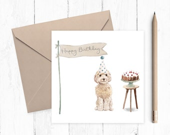 Cockapoo Birthday Card - dog card - Cockapoo card - birthday card - ideal gift for dog lovers