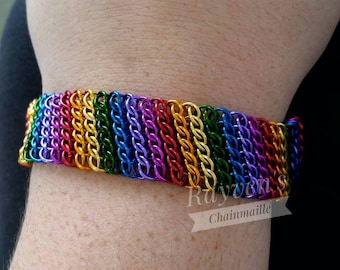 Rainbow GSG Sheet Chainmaille Chain Mail Bracelet