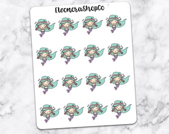 WORK OUT Little Mermaid stickers — 7